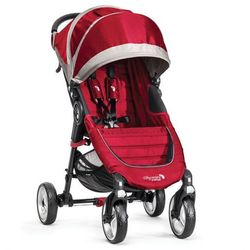 Wózek BABY JOGGER City Mini Single 4W Crimson/Gray + DARMOWY TRANSPORT! - produkt z kategorii- Wózki spacero