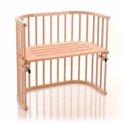 łóżeczko dostawne original surowe, lite drewno bukowe marki Tobi babybay