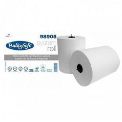 Ręcznik papierowy w roli Bulkysoft Autocut 2 warstwy 200 m biały celuloza, 98905
