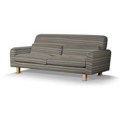 pokrowiec na sofę nikkala krótki, beżowo-brązowe pasy, sofa nikkala, aspen marki Dekoria