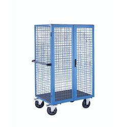 Wózek piętrowy, podwójne drzwi skrzydłowe, jasnoniebieski. Z zamykanymi, podwójn