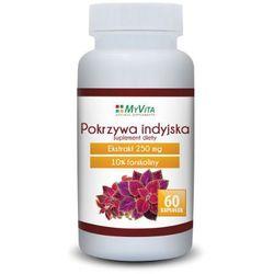Pokrzywa indyjska forskolina Myvita 60 kapsułek, postać leku: kapsułki