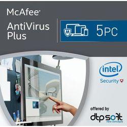 McAfee Antivirus Plus 2017 5 Urządzeń z kategorii Programy antywirusowe, zabezpieczenia