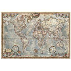 Puzzle 1500 Świat mapa stylizowana polityczna - sprawdź w SELKAR