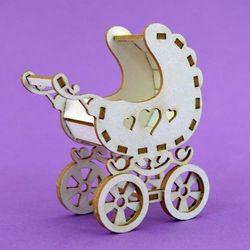 Crafty moly Ozdoba 3d - wózek dziecięcy