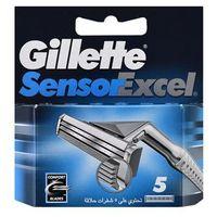 Gillette  sensor excel zapasowe ostrza dla mężczyzn (spare blades 5 pcs), kategoria: wkłady do maszynek