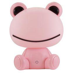 Lampka nocna dziecięca zwierzak Polux Żabka 1x2,5W LED różowa, 3 poziomy świecenia 307675 (5901508307675)
