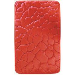 4-home Dywanik łazienkowy z pianką pamięciową kamienie czerwony, 40 x 50 cm, 40 x 50 cm (8594178397762)