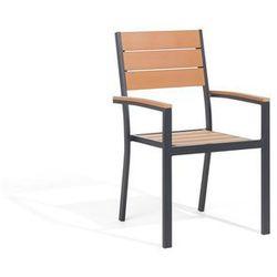 Krzesło ogrodowe jasne drewno PRATO