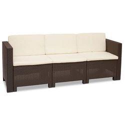 Trzyosobowa technorattanowa sofa Colorado brąz