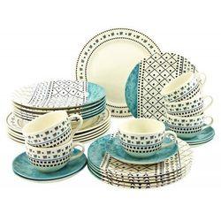 pachtwork serwis obiadowo - kawowy 30el, niebieski marki Creatable