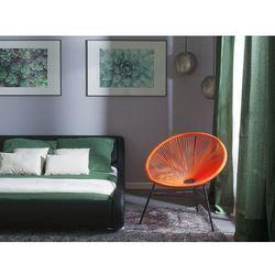 Zestaw 2 krzeseł ogrodowych pomarańczowe ACAPULCO (7105276706908)