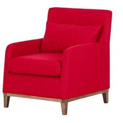LILY nowoczesny fotel - czerwony