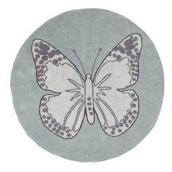 Dywan do prania w pralce butterfly green wyprodukowany przez Lorena canals