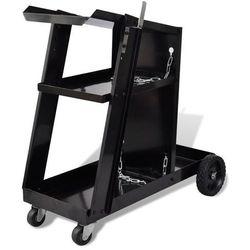 Vidaxl wózek do spawarki z 3 półkami