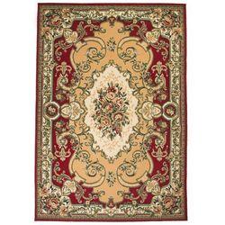 Vidaxl Orientalny dywan, perski wzór, 140 x 200 cm, czerwono-beżowy