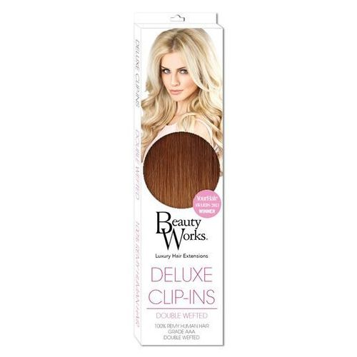 Beauty Works Deluxe Clip-In Hair Extensions 18 Inch - Sunkissed Caramel 6/27T - oferta [0577e60e9122f672]