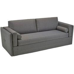 3-osobowa rozkładana kanapa tworząca łóżko piętrowe chana z tkaniny - kolor: szary marki Linea sofa