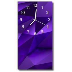 Zegar Szklany Pionowy Grafika 3d przestrzenny nowoczesny