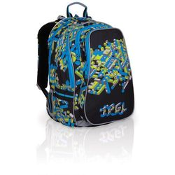 Topgal Plecak szkolny  chi 700 a - black, kategoria: tornistry i plecaki