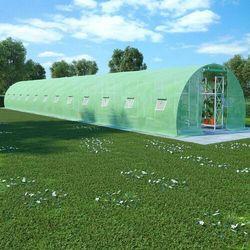 Vidaxl szklarnia ogrodowa, stalowa konstrukcja, 54 m², 18x3x2 m (8719883796185)