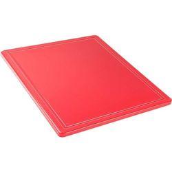 Stalgast Deska do krojenia haccp gn 1/2, z wycięciem, czerwona | , 341321