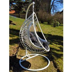 Fotel Kokon BELLA z białego technorattanu, BG-0109