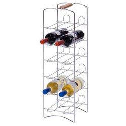 Zeller Metalowy regał na wino - 12 butelek,