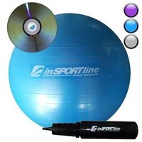 inSPORTline Comfort Ball 85 cm - IN 3917-3 - Piłka fitness+DVD, Niebieska