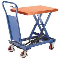 Platformowy wózek podnośnikowy Standard, nośność 1000 kg, zakres podnoszenia 445
