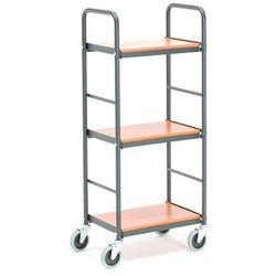 Aj produkty Wózek na segregatory dash, 3 półki, 430x275 mm, wiśnia, czarny