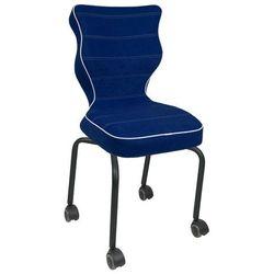 Entelo Krzesło dla dzieci z podstawą na kółkach rete black