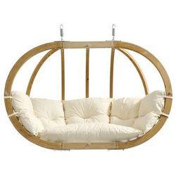Fotel hamakowy dwuosobowy drewniany, ecru Globo Royal Chair