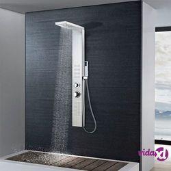 vidaXL Panel prysznicowy ze stali nierdzewnej, kwadratowy (8718475519911)