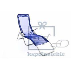 Ogrodowy bujany leżak - 160 cm, niebieski