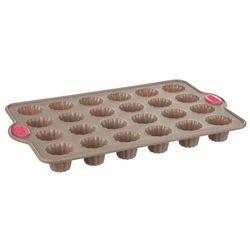Uniwersalna forma do pieczenia muffinek, z silikonową powłoką, 24 muffinki