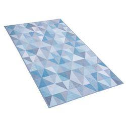 Dywan niebiesko-szary 80 x 150 cm krótkowłosy KARTEPE