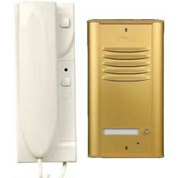 "Domofon ""cyfral"" zestaw 1-lokatorski (c-1, ramka, zasilacz, unifon mac x1) brąz marki Eura-tech"