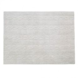 Dywan do prania w pralce trenzas pearl soft grey wyprodukowany przez Lorena canals