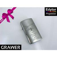 Zapalniczka slim brushed chrome z1600 grawer marki Zippo