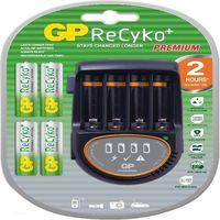 GP Batteries ReCyko+ 1604150100 Auto/Wewnętrzny Czarny ładowarka akumulatorów (4891199128240)