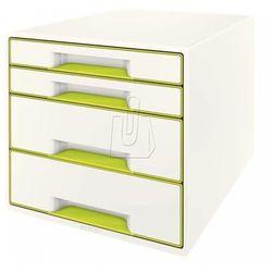 Pojemnik Leitz Wow dwukolorowy z 4 szufladami zielono-biały 52131064 (4002432102402)