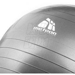Piłka fitness  85cm srebrna 31182, Meteor z hurtowniasportowa.net