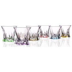 Komplet szklanek do whisky Cooper kolorowe 320 ml Bohemia, BOH_517655
