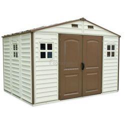 Duramax Duży plastikowy domek woodside 10,5x8 - transport gratis!