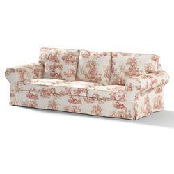 Dekoria Pokrowiec na sofę Ektorp 3-osobową, nierozkładaną, tło ecru, czerwone postacie, Sofa Ektorp 3-osobowa, Avinon