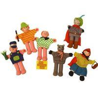 Bigjigs toys Czerwony kapturek - pacynki na palec