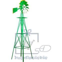 Tuin Wiatrak ogrodowy 245 cm zielony (4048821645136)