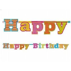BANER HAPPY BIRTHDAY 16x166 cm, #A41