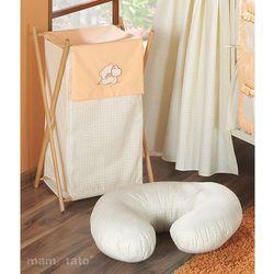 MAMO-TATO Kosz na bieliznę Miś z serduszkiem brzoskwiniowy - produkt z kategorii- Kosze na pranie